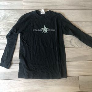 Nike boys large long sleeve shirt black and gray